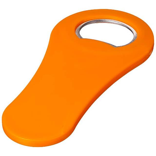 Magnetický otvírák lahví Rally - oranžová