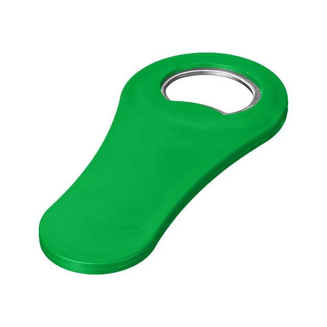 Magnetický otvírák lahví Rally - zelená