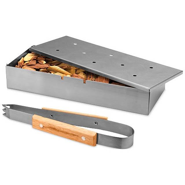 Pitts BBQ smoker box set - silver