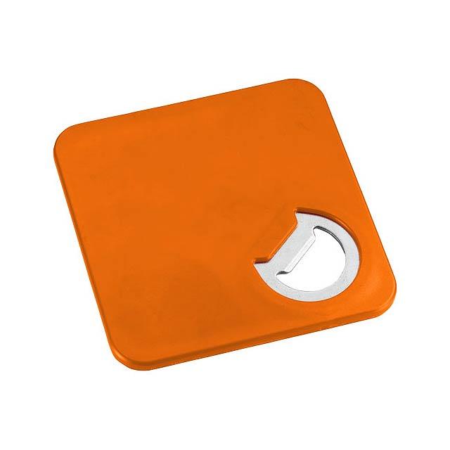 Otvírák lahví a tácek Robin 2v1 - oranžová