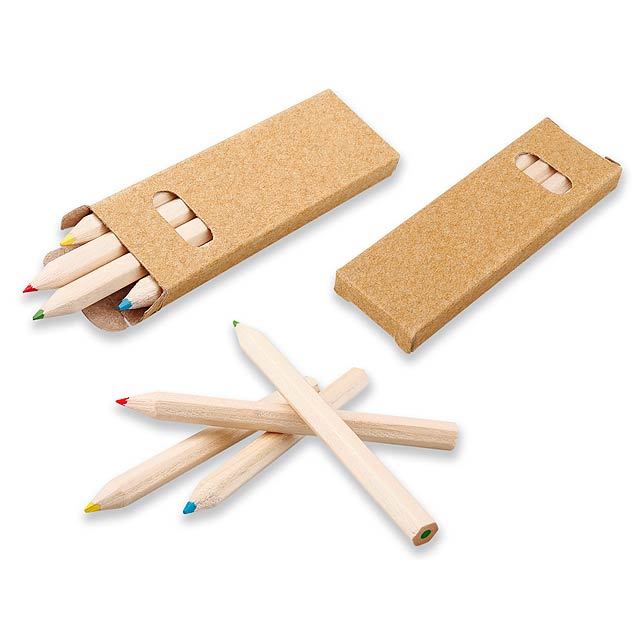GOYEN - 4 short wooden crayons, sharpened. - wood
