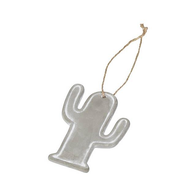 Ornament ve tvaru kaktusu Seasonal - šedá