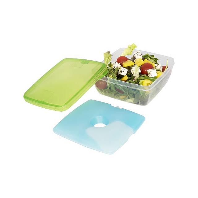Glace lunch box with ice pad - green