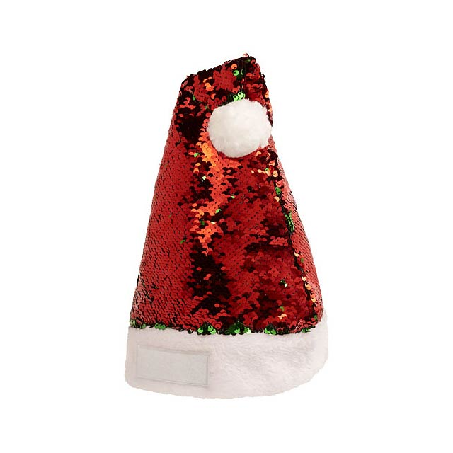 Sequins Christmas hat - transparent red