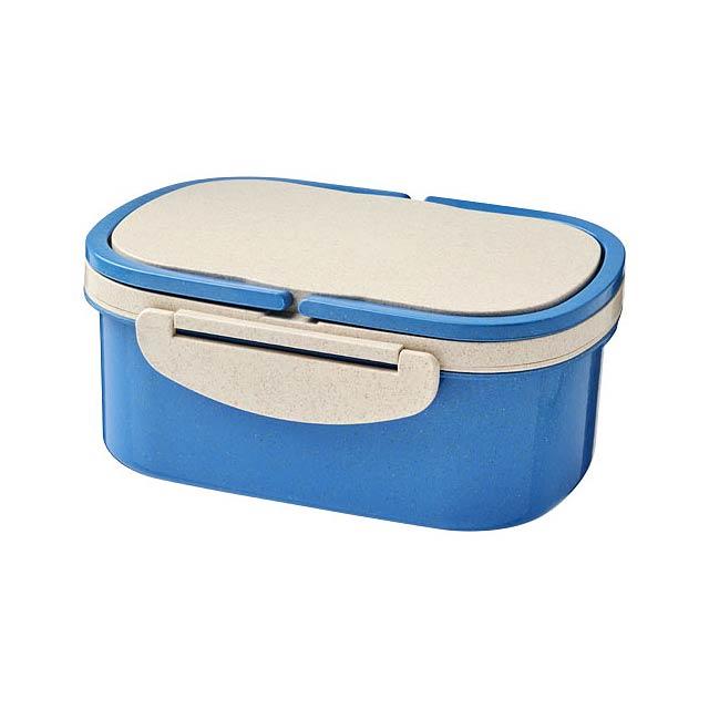 Krabička na svačinu z pšeničné slámy Crave - modrá