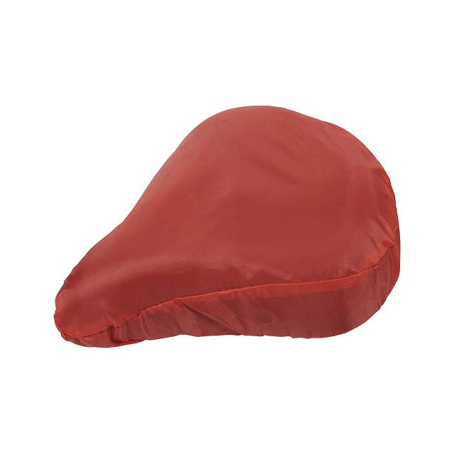 Mills bike seat cover - transparent red