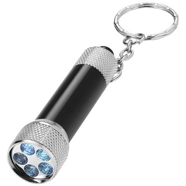 LED svítilna na klíče Draco - černá