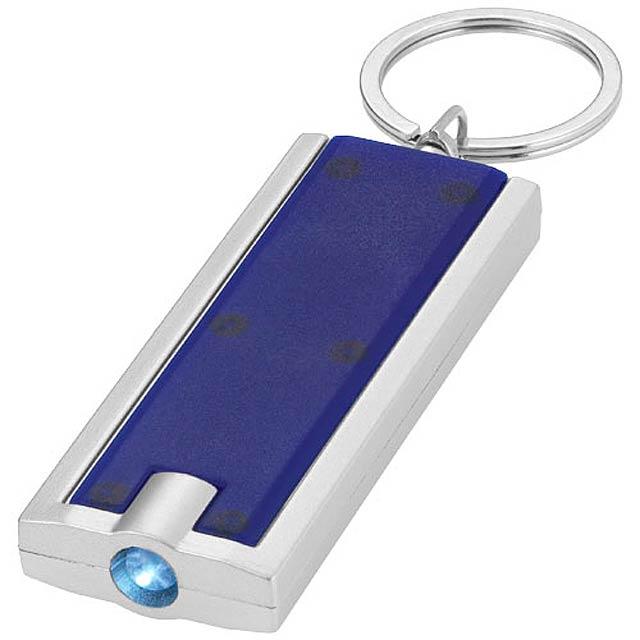 LED svítilna na klíče Castor - modrá