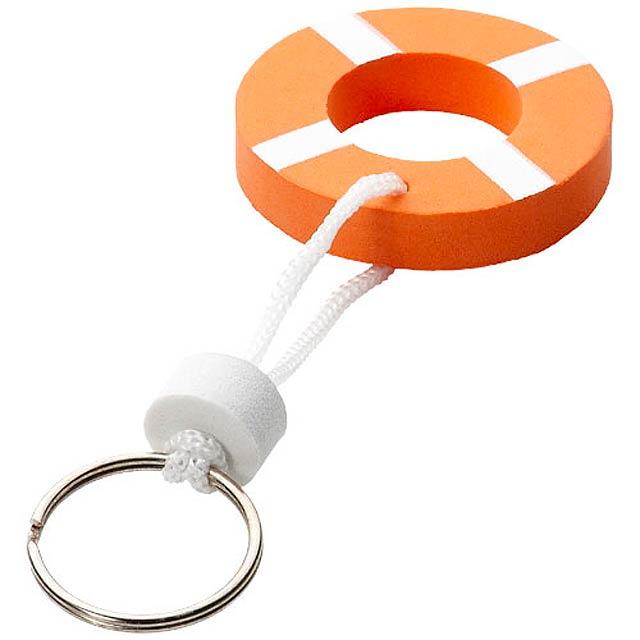 Plovoucí přívěsek na klíče Lifesaver - oranžová
