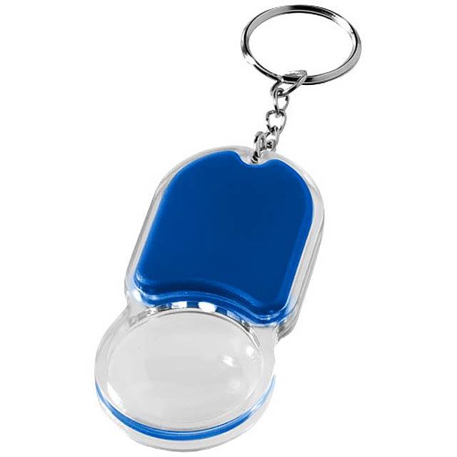 Klíčenková svítilna a lupa Zoomy - královsky modrá