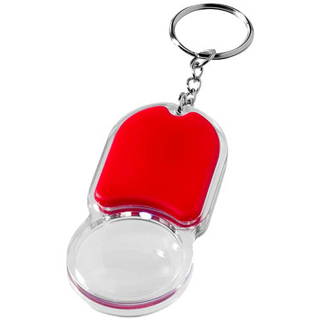 Klíčenková svítilna a lupa Zoomy - červená