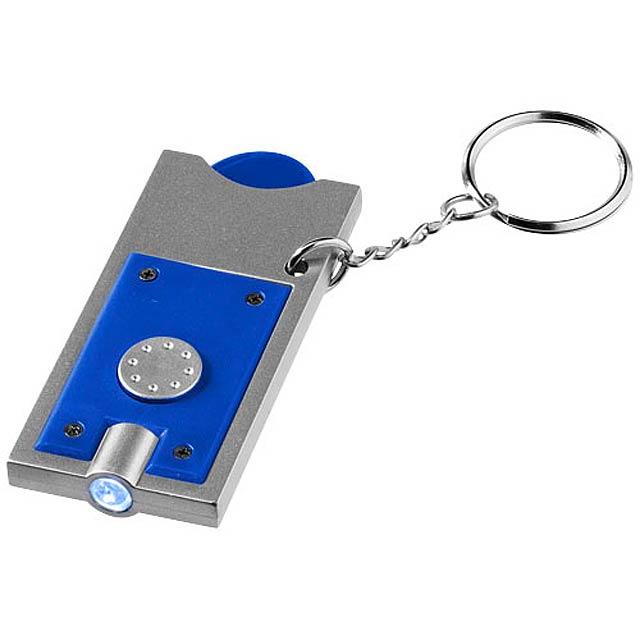 Klíčenkový držák na žeton Allegro s LED svítilnou - královsky modrá