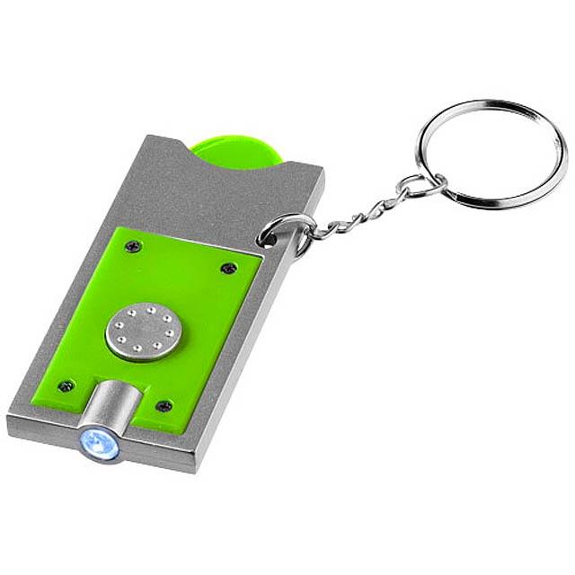 Klíčenkový držák na žeton Allegro s LED svítilnou - citrónová - limetková