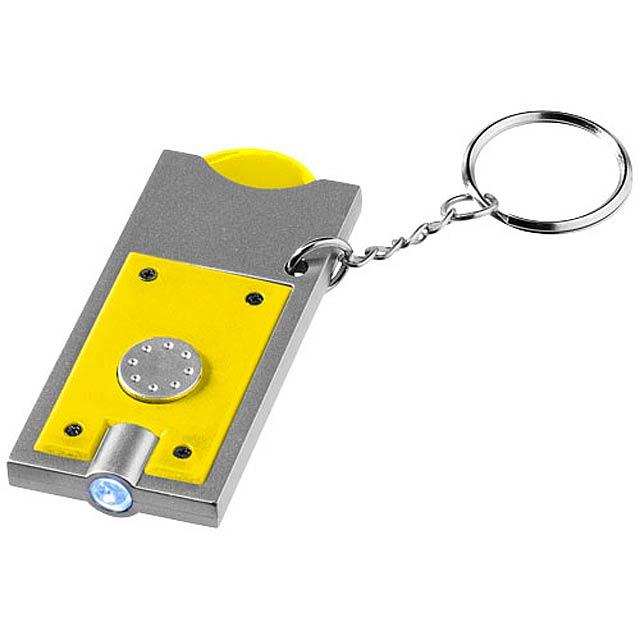 Klíčenkový držák na žeton Allegro s LED svítilnou - žlutá