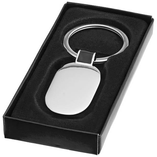 Oválný přívěsek na klíče Barto - stříbrná