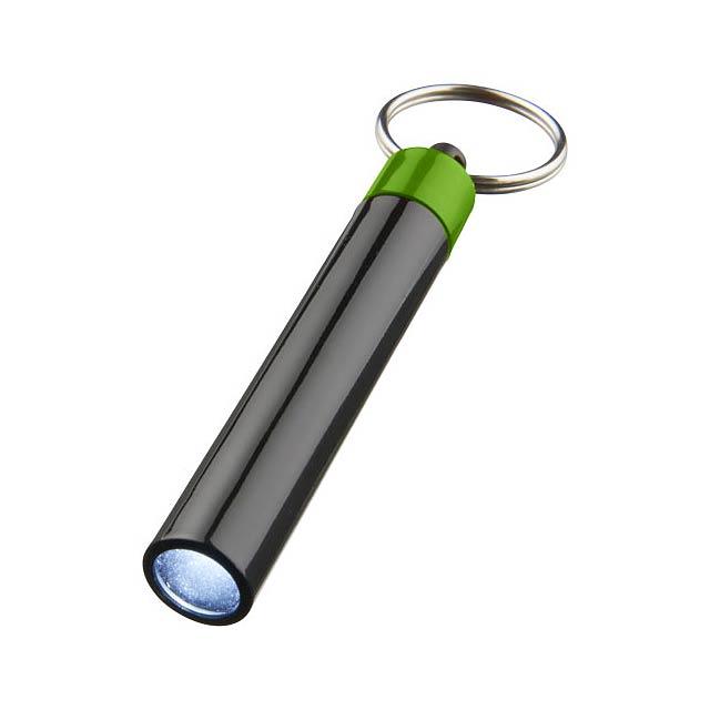 Kvalitní klíčenková svítilna Retro - zelená