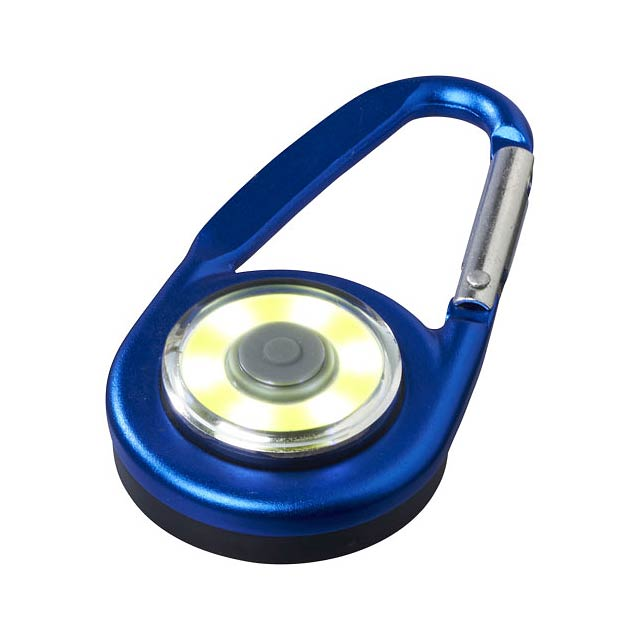 COB svítilna Eye s karabinou - modrá