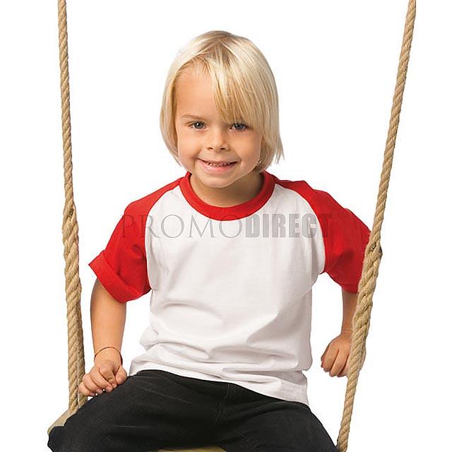 B&C - Dětské tričko - bílá/modrá