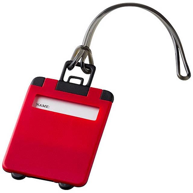 Menovka na kufor - červená