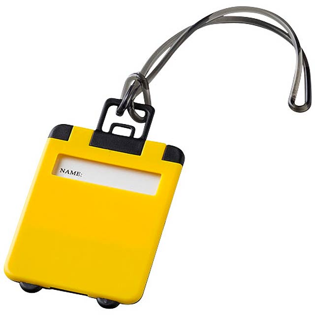 Jmenovka na kufr - žlutá