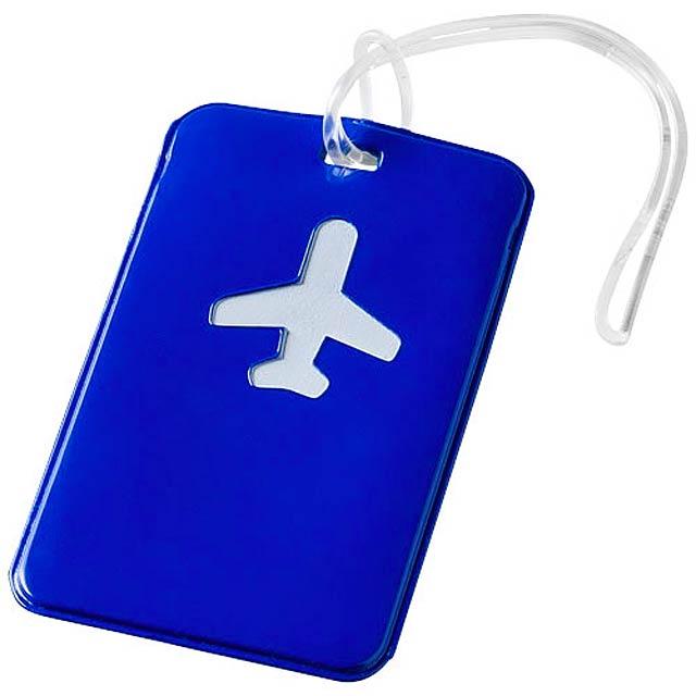 Menovka na kufor - modrá
