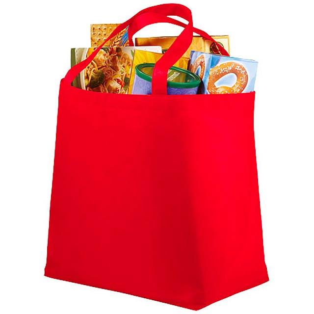 Netkaná nákupní taška Maryville - červená