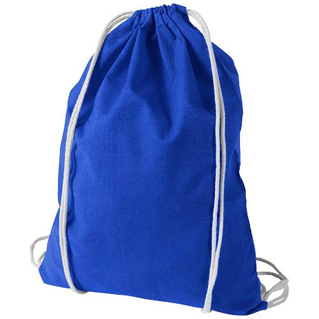 Bavlněný kvalitní batůžek Oregon - královsky modrá