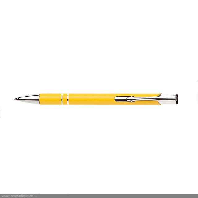 LOBIA kovové kuličkové pero - žlutá