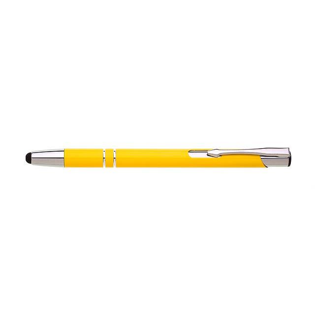LOBIA TOUCH kovové kuličkové pero - žlutá