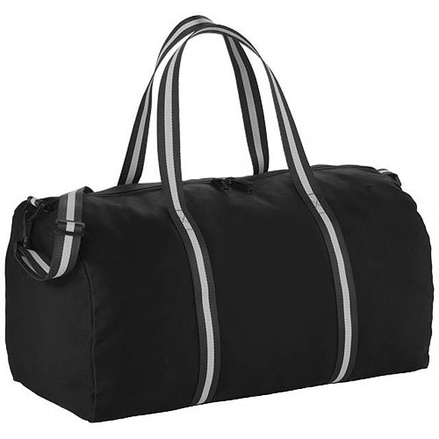 Cestovní bavlněná taška Duffel - černá