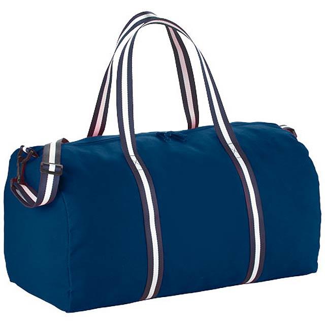 Cestovní bavlněná taška Duffel - modrá