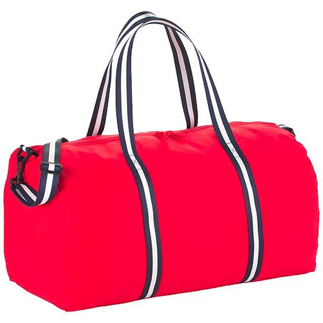 Cestovní bavlněná taška Duffel - červená