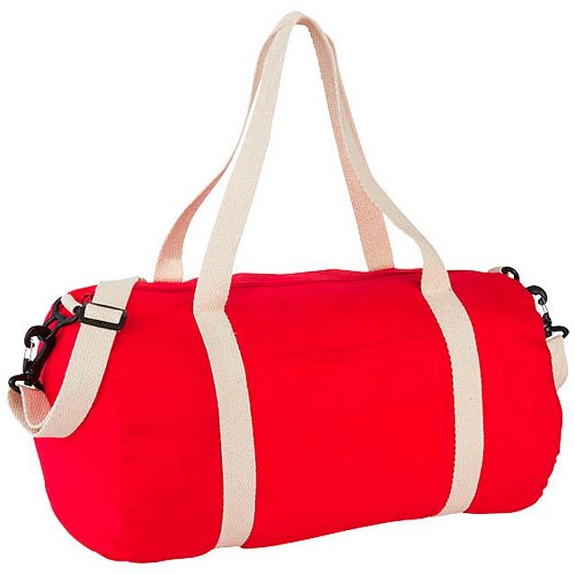 Bavlněná taška Duffel - červená