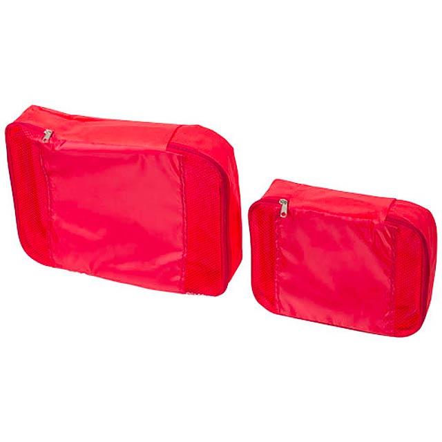 Sada 2 cestovních tašek - červená
