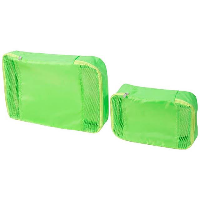 Sada 2 cestovních tašek - citrónová - limetková