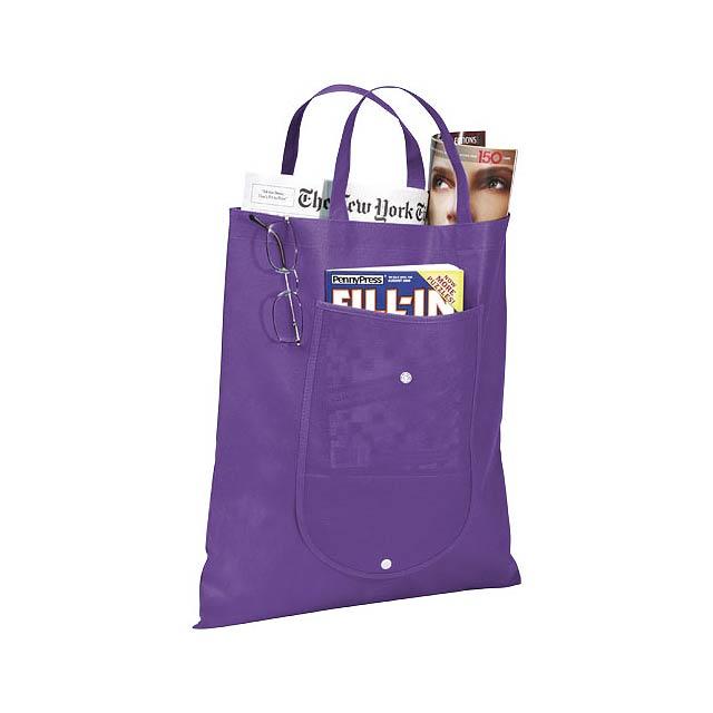 Skládaná netkaná taška - fialová