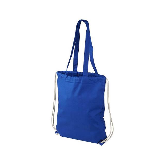 Elizo 240 g/m² bavlněný batoh se stahovací šňůrkou - modrá