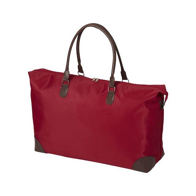 Víkendová taška Adalie - transparentní červená