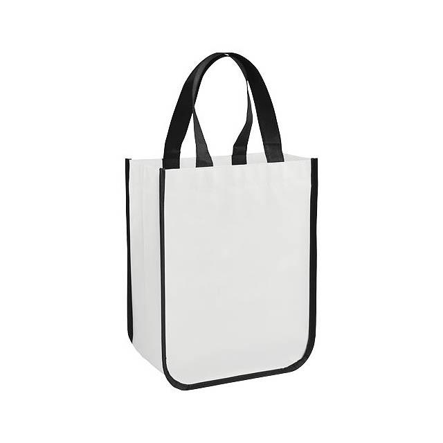 Malá laminovaná nákupní taška Acolla - bílá