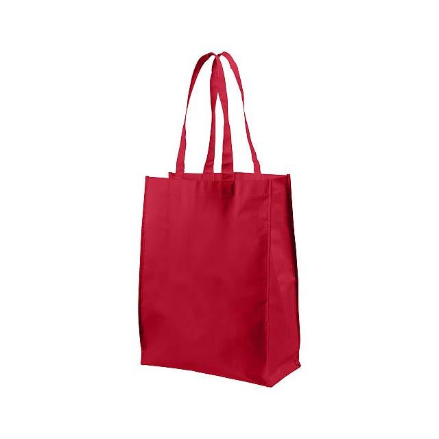 Střední laminovaná nákupní taška Conessa - transparentní červená