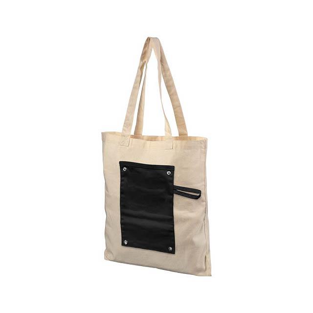 Srolovatelná odnoska Snap z bavlny 180 g/m² na knoflíky - černá