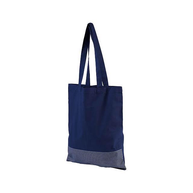 Odnoska Aylin z bavlny 140 g/m² se stříbrnými konturami - modrá