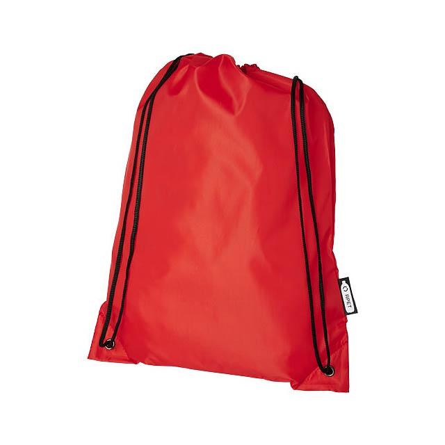 Oriole RPET šňůrkový batoh - transparentní červená