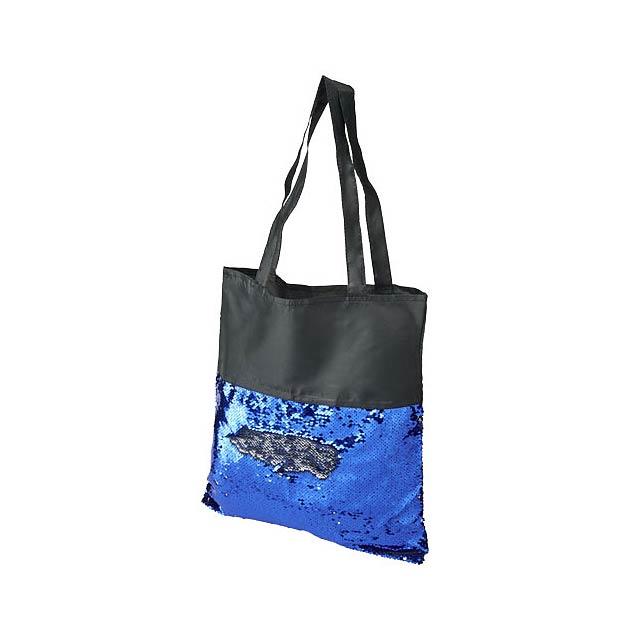 Látková taška s flitry Mermaid - černá