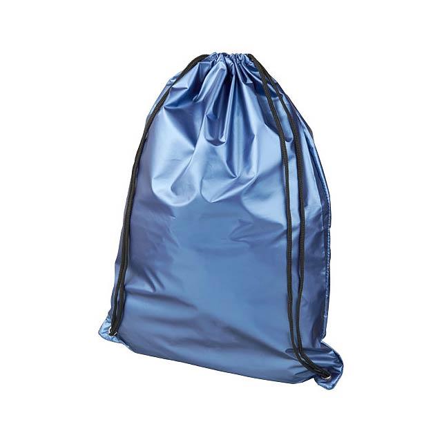 Oriole lesklý šňůrkový batoh - modrá