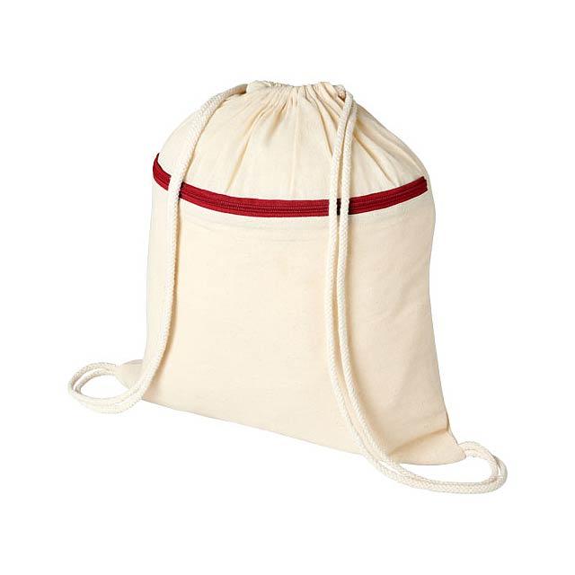 Oregon šňůrkový batoh se zipem - béžová
