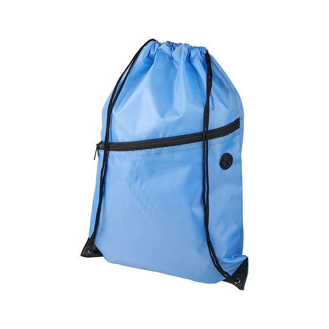 Oriole šňůrkový batoh se zipem - modrá