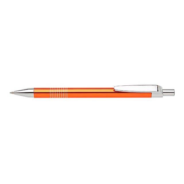 LAURIA kovové kuličkové pero - oranžová