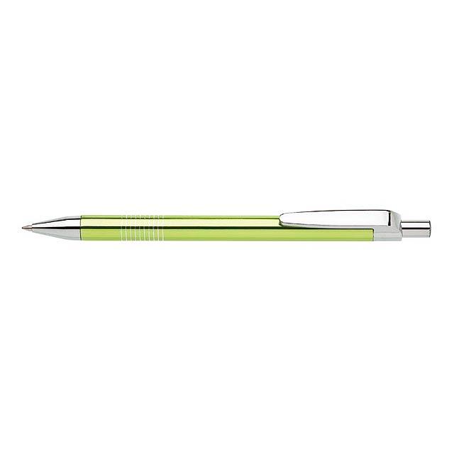 LAURIA kovové kuličkové pero - citrónová - limetková