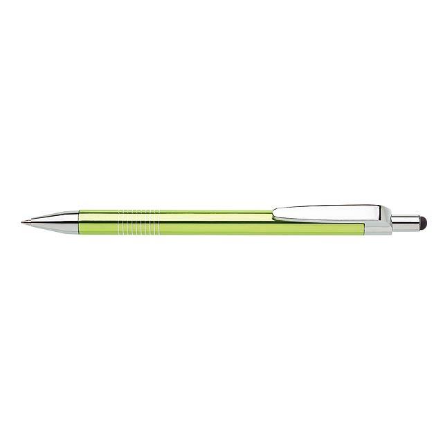 LAURIA TOUCH kovové kuličkové pero - citrónová - limetková